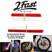 2FastMoto Spoke Wrap Kit Red White Bicycle Custom Spokes Wraps BMX GT Haro DK
