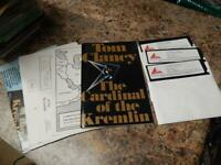 "Tom Clancy The Cardinal of the Kremlin IBM 5.25"" Floppy Game Software Complete"