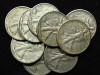 1945-D Liberty Walking Half Dollar XF/XF+ 90% SILVER