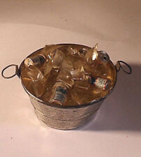 Dollhouse Miniature Tub 1:12 or 1:6, Metal Loaded with Ice and Drinks