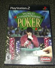WORLD CHAMPIONSHIP POKER - PS2 - COMPLETE WITH MANUAL - FREE S/H - (II)
