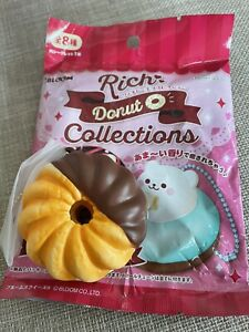 Ibloom Rich Donut Squishy Chocolate Charm Crueller Cake Collection New