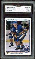 1990 Upper Deck #24 Alexander Mogilny RC Rookie Graded GMA 10 GEM MINT ~ PSA 10?
