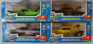 1998 Tootsietoy MUSCLE CARS LOT of 4 Limited Edition 1/10,000 DieCast Cars MIB
