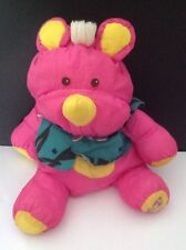 Vtg Fisher Price Plush Puffalump Pink Rhino Stuffed Animal Hawaiian Shirt 1987