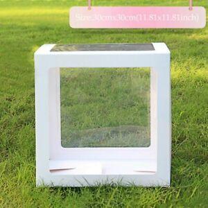 12'' Transparent White Box Letter A-Z Storage Balloon Baby Shower Birthday Decor