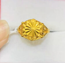 Pre Owned Men 24K Solid Yellow Gold Ring 5.20 Grams Size 6.75(429$)