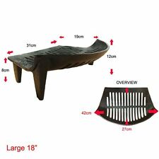 Fire Grate Cast Iron Grill Black Log Coal Open Fire Fireplace Accessory Large