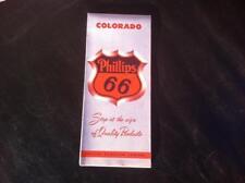 Vintage 1950s Colorado Phillips 66 gas gasoline oil vintage highway road map