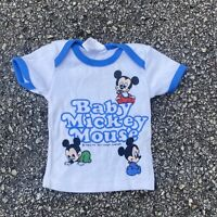 Vintage 1984 Baby Mickey Mouse Graphic T-Shirt Size Newborn