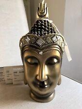 Divine Thai Buddhas Head Statue. Sparkling In Clear Quarts Swarovski Elements