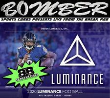 New England Patriots 2020 Panini Luminance Football 4 Box 1/3 Case Break 1