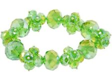 NEW Green Aurora Borealis Crystal Bead Sparkle Stretch Bracelet Perfect to Stack