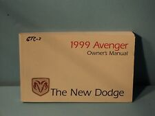 99 1999 Dodge Avenger owners manual