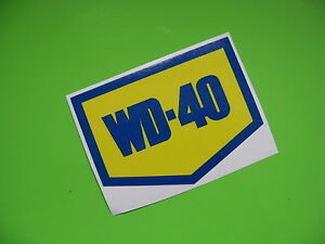 WD-40 Racing car sticker/decal x2