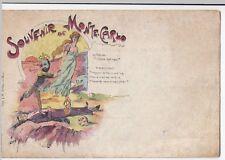 Rare Anti King Albert Propaganda PPC Artist Decave, Souvenir De Monte Carlo 2