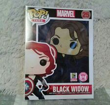 Funko Pop! Tees: Marvel#25 Black Widow (Shield) Women's (M) 2015 SDCC Exclusive