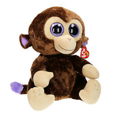 TY Beanie Boos - COCONUT the Monkey  (6 inch) NEW W/ HEART TAG
