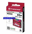 Transcend 64GB CF 800x Compact Flash Memory Card Retail Pack 120MB/s Genuine US
