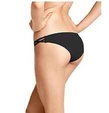 Victoria's Secret Strappy Cheeky Cut-out Bikini Swim Bottom S Black NWT S