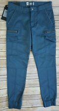 Xios Men's Size W30 Gray Blue Casual Cargo Jogger Pants Cotton Spandex ~NEW