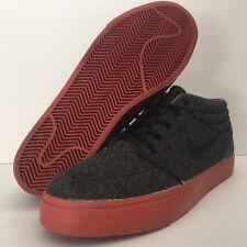 Nike Stefan Janoski Mid BM Skate Shoes Black Terra Red Size 10