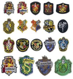 Harry Potter house badge collection Iron on Sew on Embroidered Patches