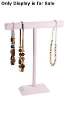 Retails Large Pink 1-Tier Necklaces and Bracelets Display Bar 14�W x 18�H