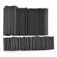 127Pcs Black Glue Weatherproof Heat Shrink Sleeving Tubing Tube Assortment K4V7