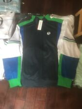 NWT Sergio Tacchini Zip Up Tennis Track Jacket Multi Color Men's Size L