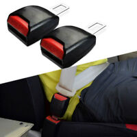 2pc Auto Car Safety Seat Belts Buckle Clips Adjustable Extension Extender Yellow