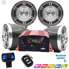 Golf Car Cart MP3/Bluetooth Player Speaker FM Radio AMP Stereo WRemote Control