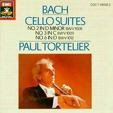 Johann Sebastian Bach : Cello Suites Nos. 2, 3 & 6 (Tortelier) CD (2000)