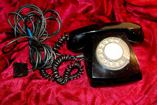 Vintage Rotary Dial Phone Black Telephone Original Soviet about 70's