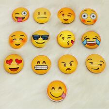 10pcs Expression Glass Emoji Fridge Magnet Decor Whiteboard Note Message Gifts