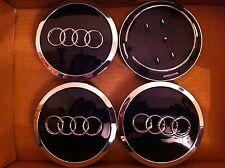 Audi alloy wheels Center Caps Set (4) Visage Noir 68 mm clip 57 mm 4B0 601 170 A