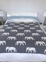 Lacoste Turquoise King Size Sheet Set Elephant Blanket Lot Of 5 Items