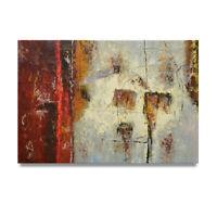 NY Art - Art Brut Abstract Fine Art 24x36 Original Oil Painting on Canvas