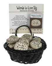 (1) Words to Live By Message Worry Stone Charm Verse Live An Inspired Life