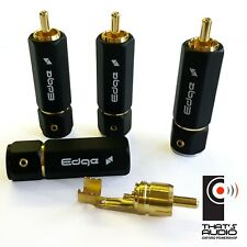 4 x EDGE Hi-Fi PHONO (RCA) Plugs - Black Outer Shell with Gold plated connector
