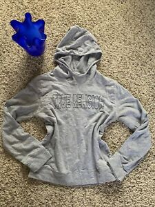 True Religion Sweatshirt Youth Sz L/XL Hoodie Pullover Gray NICE!