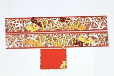 Pizza Party Scrapbook Border Scrapbooking album Creative Celebration Boy Girl