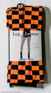 Leg Avenue Ladies Checkered Tights 60% Poly/40% Nylon Asso Colors Novelty Tights