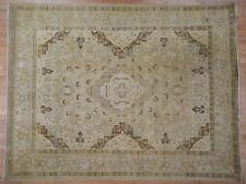 """10'1""""x13' Vintage Village Hand-Knotted Pure Wool Oriental Rug R41859"""