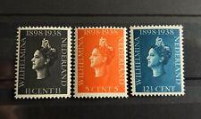 Nederland 1938 jubileumzegels NVPH 310-312 postfris