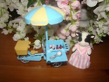 Sylvanian FamiIies Elsie's Ice Cream Buttercup Cow Tricycle Cart
