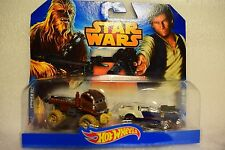 Hot Wheels paquete doble de Star Wars Han Solo Chewbacca