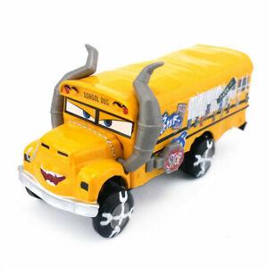 Disney Pixar Cars Miss Fritter School Bus Metal 1:55 Diecast Toy Kids Gift Loose