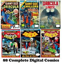 Tomb of DRACULA #1-70 DRACULA LIVES #1-13 comic RUN Collection DVD Marvel 1972