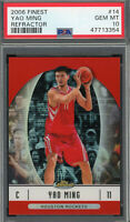 Yao Ming Houston Rockets 2006 Topps Finest Refractor Basketball Card #14 PSA 10